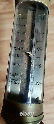 Antique Chamberlain & Ritchie Gimbled Barometer 36 w Wall Mount Incomplete