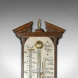 Antique Comitti Stick Barometer, English, Rosewood, Mahogany, Feather, Fan