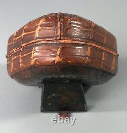 Antique Crocodile Leather Cased Negretti & Zambra Travel Set CBBZX