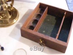 Antique Culpeper Microscope 18th Century Lincoln Of London & Accessors