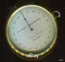 Antique Cylindrical Clockwork Micrometer Germany Poland Breslau Hugo Derb