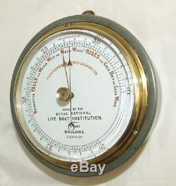 Antique Dollond London Fisherman's RNLI Issued Marine Aneroid Barometer No 2267