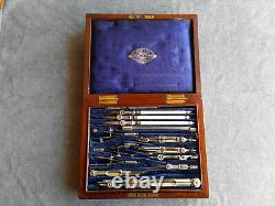 Antique Drawing Instruments/Drawing Set/Campaign Style Case Robson, Newcastle