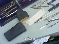 Antique Drawing Instruments Sets And Shagreen Drawing Instruments Set