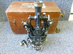 Antique E R Watts Theodolite Engineers / Surveyors Level Instrument No. 17410
