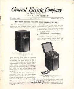 Antique Edison Era Thomson Portable D. C. Meter