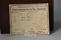 Antique Ernst Leitz Wetzlar Microscope in original wooden box sed. 405971896 R47