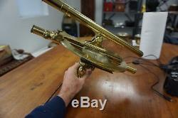 Antique French Brass Double Telescope Graphometer