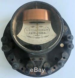 Antique GALVANOMETER Telegraph L. G. TILLOTSON Railroad Scientific Instrument