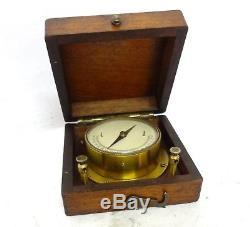 Antique Galvanometer Ammeter Very Rare 1850 Continental Brass & Oak Wooden See