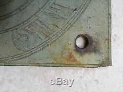 Antique George III Bronze Sundial Plate By Benjamin Martin London C18th Rare