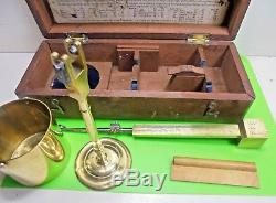 Antique Georgian Brass Corn Balance Scales Chrondrometer Watkins Charing Cross