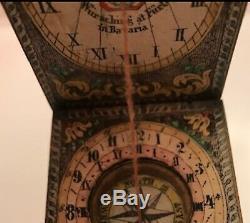Antique German Diptych Sundial, Circa 1830