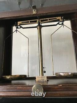 Antique Glass Cased Scales Scientific Weighing Apothecary Large Mahogany