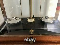 Antique Glass Cased Scales (TATLOCK LTD)Weighing Balance Apothecary
