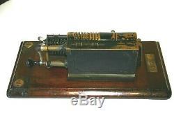Antique'Guys Britannic' Calculating Adding Machine in Wooden Case Brass/Steel