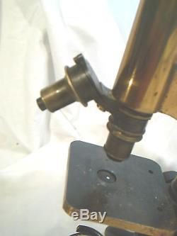 Antique Henry Crouch Microscope
