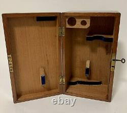 Antique Lacquered Brass Compound Student Microscope in Box with Lenses