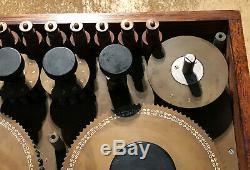 Antique Large Adjustable Electric Wheatstone Bridge in Polished Teak Cabinet