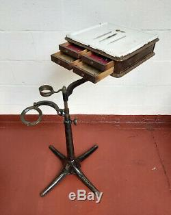 Antique Late Victorian Dentist's Bracket Table Dental Equipment
