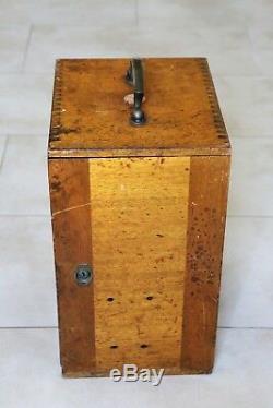 Antique Leitz Binocular Microscope. Brass, 3 Objectives, Case