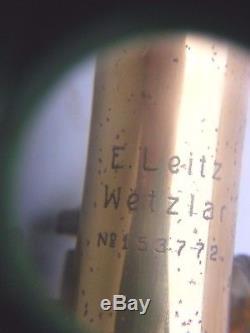 Antique Leitz Microscope Leitz Wetzlar Brass