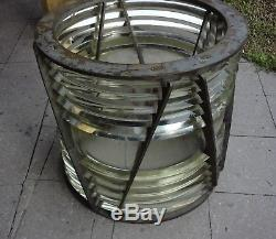 Antique Lighthouse 4th Order Fresnel Drum Lens 1920 By Aga 58 CM Diameter Rare