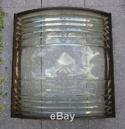 Antique Lighthouse Fresnel Lens 3rd Order Barbier Benard Et Turenne Huge 70 Lbs