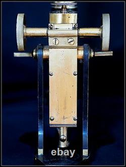 Antique M. Pillischer Microscope. Brass. 1748 Monocular