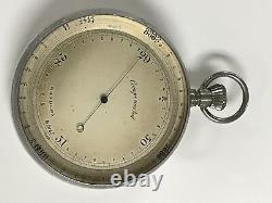 Antique Made In England Barometer Compensated Inches With Original Case