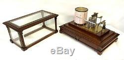 Antique Mahogany Cased BAROGRAPH with Chart Drawer SHORT & MASON, LONDON