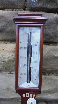 Antique Mahogany Stick Barometer