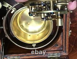 Antique Marine Chronometer Clock By Negus