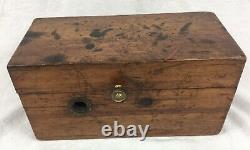 Antique Medical Doctors Quack Tool'Magneto Electric Machine' In Wooden Box