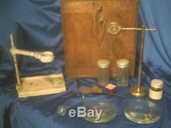 Antique Microscope A Franks Manchester Microscope & Accessories