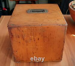 Antique Microscope Slides Mixed Subjects in Lockable Wooden Cabinet with Key
