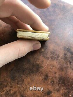 Antique Museum Quality 17th Century Diptych Dial Miniature Pocket sundial Rare