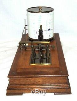 Antique Oak Cased Barograph A. C. SAXBY CHELTENHAM WORKING
