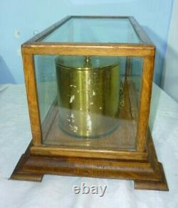 Antique Oak Cased Barograph By Short And Mason In Good Working Order