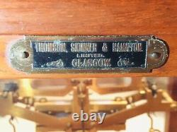 Antique Oertling Scales of London, Thomson, Skinner of Glasgow Case c. 1920