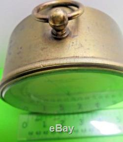 Antique Old Vintage Negretti & Zambra 382 4 3/4 Aneroid Barometer Thermometer