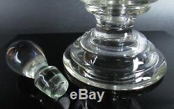 Antique Pharmacy Apothecary Blown Glass Globe Teardrop Stopper 3 Piece Lab Jar