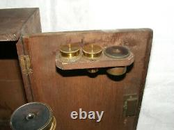 Antique R&j Beck London Microscope Plus Lenses And Original Wooden Fitted Case