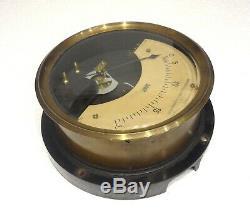 Antique Rare Large & Sophisticated German Hartmann & Braun Ammeter Galvanometer