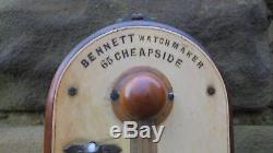 Antique Rosewood Stick Barometer By Bennett London