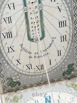 Antique Signed German Diptych Portable Sundial c. 1830