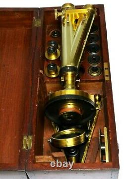 Antique Smith Beck & Beck binocular Microscope, 1860s