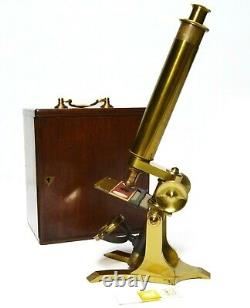Antique'Society of the Arts' brass microscope