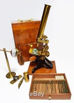 Antique'Society of the Arts' pattern microscope, circa 1900
