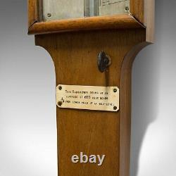 Antique Stick Barometer, Walnut, Scientific Instrument, Negretti & Zambra, 1900